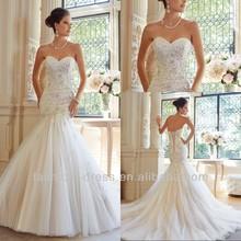 New Model Hot sale Lace Up Back Mermaid Wedding Dress 2014