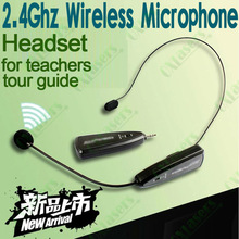 portable 2.4G wireless headset microphone for megaphone amplifier speaker for teachers tour guide sales promotion conference