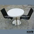 branca de neve pedra redonda mesa de ardósia de café topo