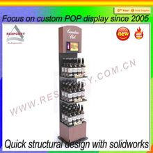 New product wine rack POP custom teak wood wine rack