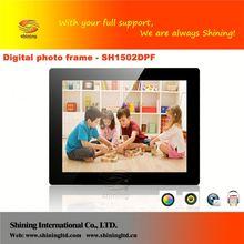 SH1502DPF 15 inch beautiful digital photo frame with steel g
