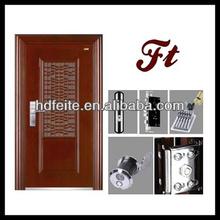 single iron door with two sidelights single glass door design single door teak wood design
