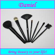 New Arrive! makeup brush 7pcs eco natural cosmetic brush set free sample Nylon hair goat hair brush