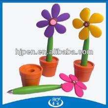 2014 Sun Flower Shape Pen With Cute Flower Plastic Pen