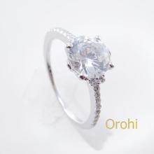 Bellissimo anello di fidanzamento dalla fabbrica, teschio anello di fidanzamento per le donne, 1 carato solitario anello di diamanti- sor485