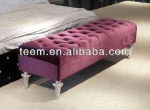 2014 venda quente moderna sala de fezes cama móveis de aço cromado tubos