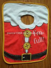 Christmas designs printing baby bibs
