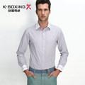 K- de boxeo de la marca de los hombres de manga larga tira de negocios vestido de camisa, fabricante de china