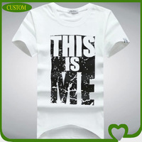 design men's printing t-shirt for pre promotion in china 2014