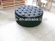 Ottoman living room leather footstool