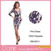 2014 New Fashion Wrap V_neck three-quarters Summer Print Dress for Women