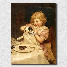 Canvas prints famous Arthur John Elsley pet and children painting for living room decoration