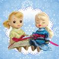 4 polegada mini boneca congelado do bebê roupas de boneca