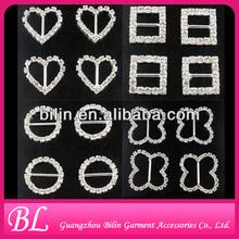 wholesale various shape embellishments rhinestone shoe buckles