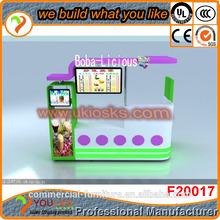 NEW HOPE! Customized Mini juice kiosk,free designed juice bar kiosk,mall juice bar design for sale with LOGO