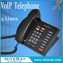 VOIP phone red caller id corded phone for hotel