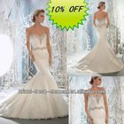 Hot Sale Good Quality Satin Exquisite Sweetheart Appliqued Beaded Traditional Wedding Dress
