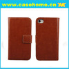 For iPhone 5 Wallet Case, PU leather with two card slots