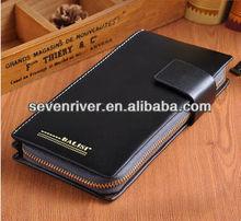 2015 fashion brand design genuine leather man handbags/hand wallet/hand business bag