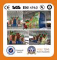 2014 caliente comercial inflable gigante bosque de diapositivas