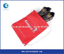 printed satin drawstring shoe bag