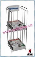 serviceable fabric magazine display rack/metal wire magazine rack for promotion/supermarket/retail