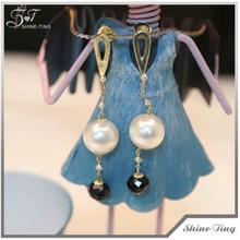AAA wholesale 7.5mm white freshwater pearl earring beads