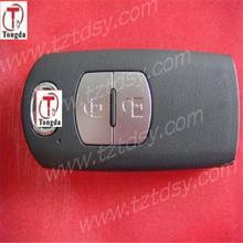 Tongda wholesales 2 button remote cover, smart card case for mazda