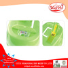 Green closed cat litter pan,cat litter box with gridding and new scoop