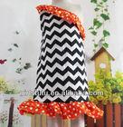 Wholesale one shoulder chevron dress zig zag ruffle bottom prints dresses for kids girls