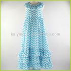 2014 new designs girls boutique chevron dress wholesale maxi dress for baby