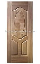 VENEER or MELAMINE HDF moulded door skin,Cheap pirce moulded wood veneer door skin by ash/teak/sapele/oak