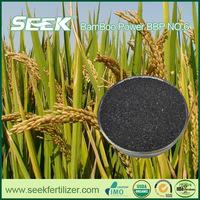 Rice paddy fertilizer from bamboo biochar
