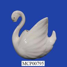 hecha a mano única personalizado de cerámica swan para la venta