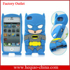 New Products 3D Cartoon Case Superman Case For iPhone 4 Soft Silicone Case