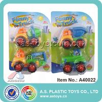 Funny cartoon mini F/P construction toy trucks