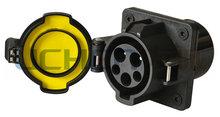 EV AC Charge plug EV male female plug socket/connector dust caps