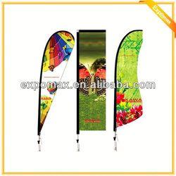 Heavy Duty Beach flying banner, flag banner and flying banner Beach, promotional feather beach fly banner