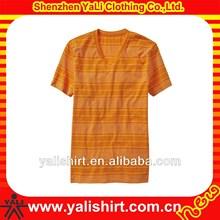 populor discount coustom ptinted own logo deep v neck t shirts for men