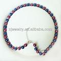 Venta al por mayor venta caliente natural aaa+ 8mm color de la mezcla de la moda del sur del mar shell collar de perlas