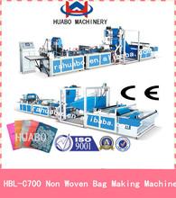 Non woven Bag Making an manual sealing machine & soft handle loop attaching machine