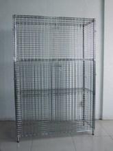 NSF warehouse chrome metal storage cage 4-tier