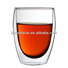 380ml Clear Hand Blown Double Wall Glass Cup