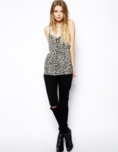 leopard printing sexy woman top wholesale casual fashion tank top without dress sexy woman photo tank top