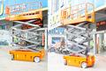la eléctrica móvil tijera auto de elevación de la plataforma