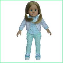 Fashion design vinyl 18 inch big eyes girl doll,dream vinyl girl doll with blond hair