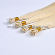 100% human remy nano ring/beads hair extensions