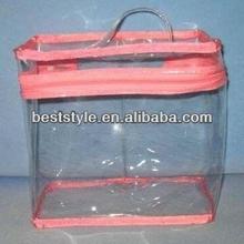 Packing pen and pencils clear PVC zipper bag