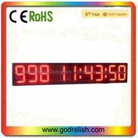 Ali LED display board 9 digit 7segment led wall clock