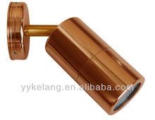 Wall Pillar Light Copper Single Adjustable Long Body GU10 35W IP66